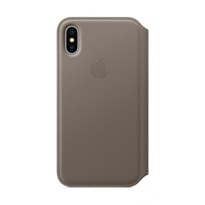 pretty nice 7d9d6 fd76e Apple Leather Case For iPhone X (MQRY2ZM/A) - Taupe