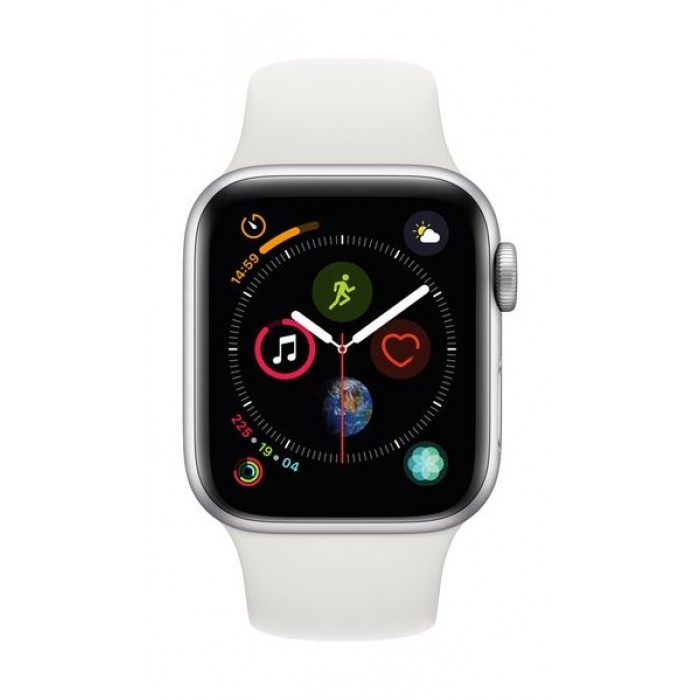 separation shoes 27c3f 0f355 Apple Watch Series 4 GPS + Cellular, 40mm, Silver Aluminum Case With White  Sport Band