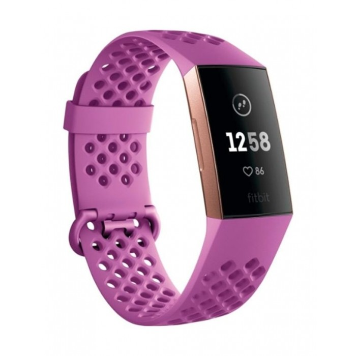 Fitbit Charge 3 Fitness Tracker Berry Rose Gold