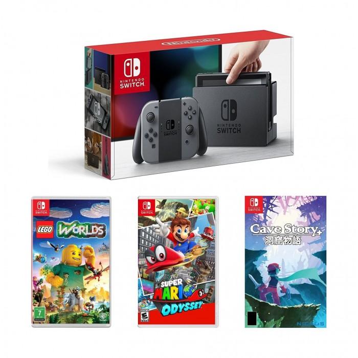 Nintendo Switch Portable Gaming System - Grey + Lego Worlds + Super