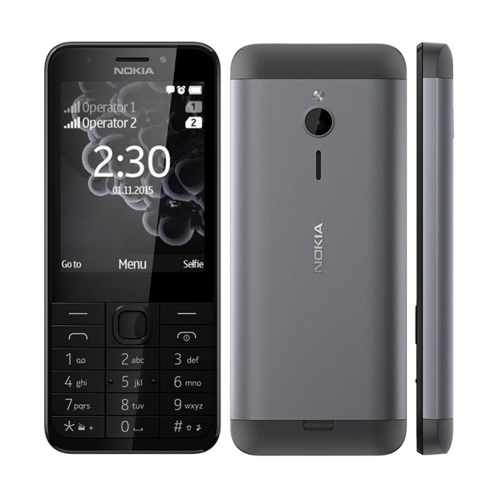 NOKIA 230 - Phone - Silver. Next