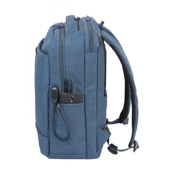 df47cac068f3 RivaCase 17.3 Inch Carry-On Laptop Backpack (8365) - Blue | Xcite Kuwait
