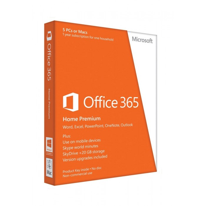 Microsoft Office 365 Home Premium - 5 Users 1 License 1 Year