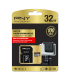 PNY 32GB microSD Class 10 Memory Card - Black