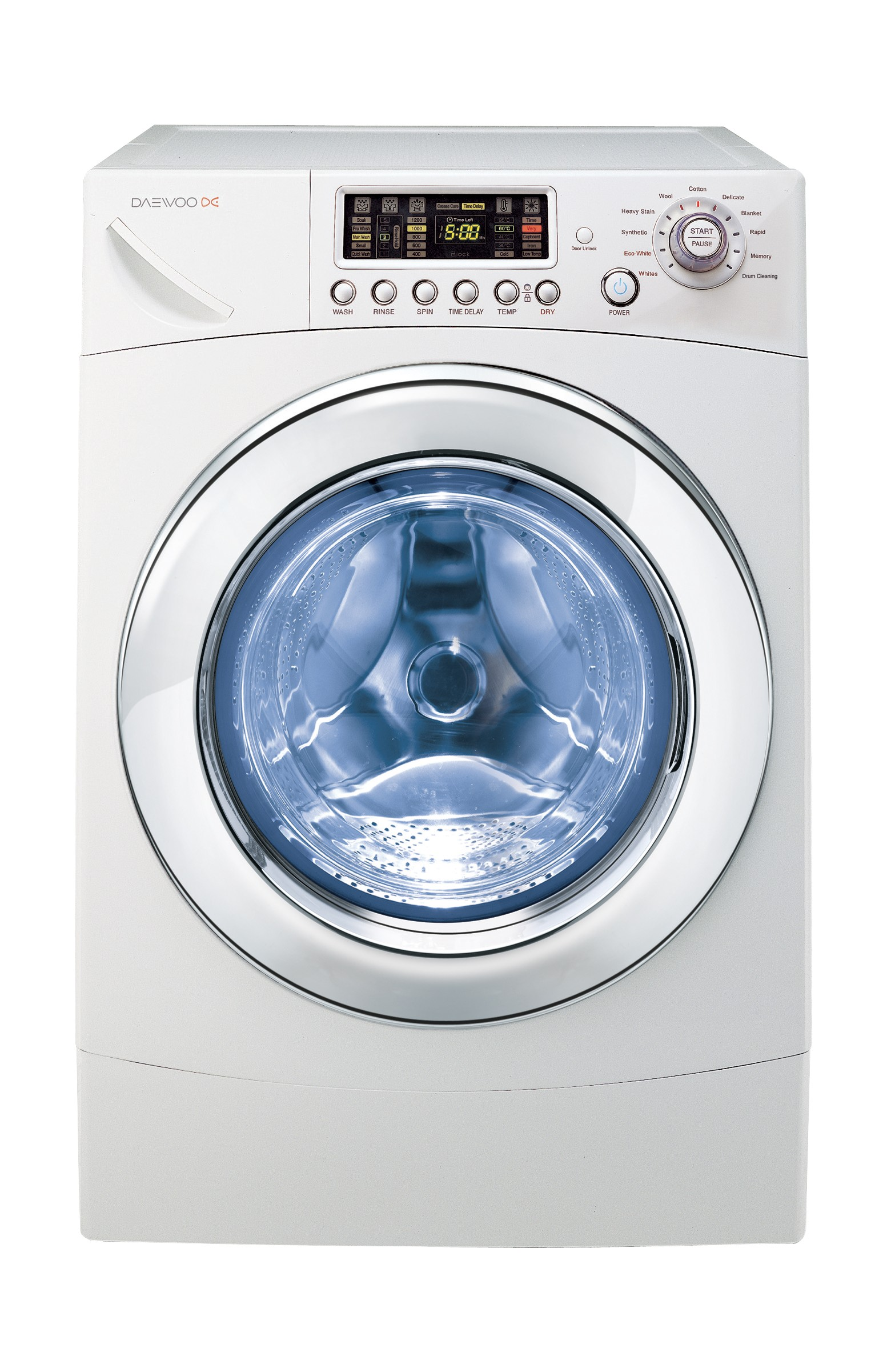 Daewoo 11Kg/6.5Kg Front Load Washer Dryer - White DWC-ED1212   Xcite