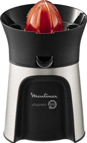 عصارة فيتا دايريكت سيرف للحمضيات بالضغط اليدوي لاستخلاص العصير من مولينكس - PC603D27، باللونين الفضي والاسود، من البلاستيك