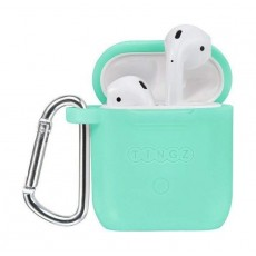 Tingz My Silicone Case For Airpods With Sport Strap - Green