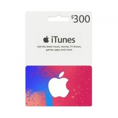 Apple iTunes Gift Card $300 (U.S. Account)
