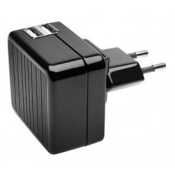 Kensington Absolute Power 4.2 AMP Dual Fast Wall Charger For Tablets and Smartphones - Black (K39690EU)