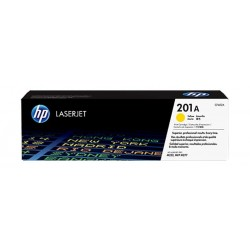 HP Toner 201AY for LaserJet Printing 1400 Page Yield - Yellow (Single Pack)
