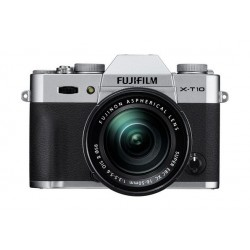 Fujifilm X-T10 Mirrorless Digital Camera with 16-50mm Lens - Silver