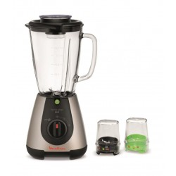 Moulinex Faciclic Glass 500W Blender With Two Mills (LM313A28) – Silver