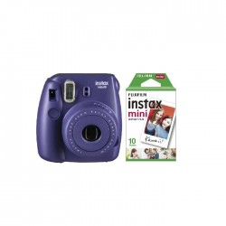 Fuji Instax Mini8 Camera + Film + Album - Grape