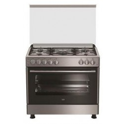 Beko 90x60 5-Burner Free Standing Gas Cooker (GG15125FX) – Stainless Steel