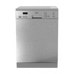 Midea 7-Program 14-Settings Freestanding Dishwasher (WQP1276) - Silver
