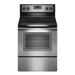 Whirlpool 5 Burner Self Cleaning Electric Cooker - Silver 4KWFE7685ES