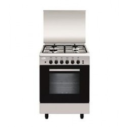 Glem Gas 4 Burners Free Standing Gas Cooker - Silver AL554GI/FS