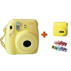 Fuji Instax Mini8 Camera + Case + Album - Yellow