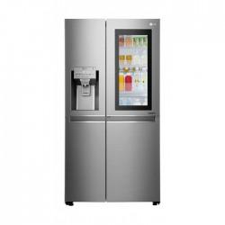 LG 21.2CFT Side by Side Refrigerator ,Hygiene Fresh+, Inverter Linear Compressor (LS242VBVLN) - Silver