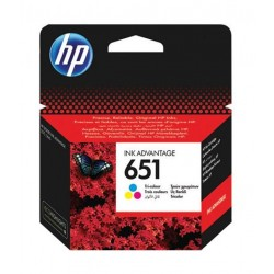 HP Ink 651T for Inkjet Printing 300 Page Yield - TriColor
