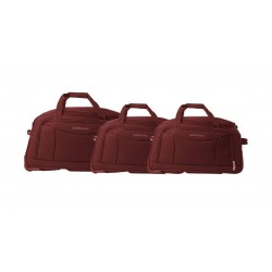 Giordano Duffle Bag Set Of 3 (411) - Maroon
