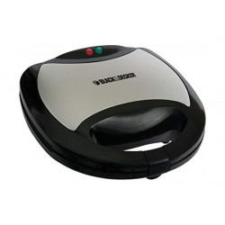 Black And Decker 750W 2 Slot Grill and Sandwich Maker - Black TS2060-B5