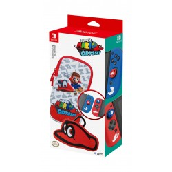 Featuring original Super Mario Odyssey artwork, this starter set includes a themed slim soft pouch, game card case with carabiner, silicone Joy-Con grip covers, and 2x analog caps. Officially Licensed by Nintendo.