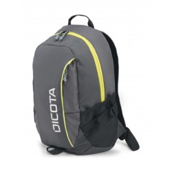 Dicota Power Kit Premium Backpack - Grey & Yellow