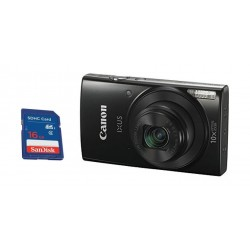 Canon IXUS 190 20MP Wi-Fi Camera - Black + Sandisk 16GB SD Memory Card