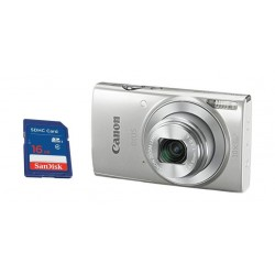 Canon IXUS 190 20MP Wi-Fi Camera Silver + Sandisk 16GB SD Memory Card