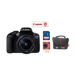 Canon EOS 750D 24MP DSLR Camera+18-55MM Lens+ Photography Training Voucher + 16 GB SD Memory Card + Bag