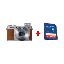 Canon PowerShot G9 X Mark II 20MP Digital Compact Camera with Wi-Fi + Sandisk 16GB SHDC SD Memory Card