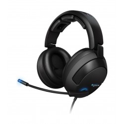 Roccat Kave Solid 5.1 Surround Sound Wired Gaming Headset - Black