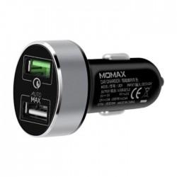 Momax UC series Dual-port Fast Car Charger – Black
