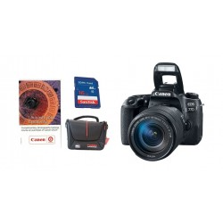 Canon EOS 77D DSLR Camera 24.2MP With 18-135mm USM Lens + Voucher + 16 GB SD Card + Camera Bag