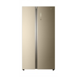 Haier Side By Side Refrigerator 18.4 Cft - Gold