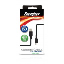 Energizer PS4 & Xbox One Universal Power and Play Charge Cable - Black