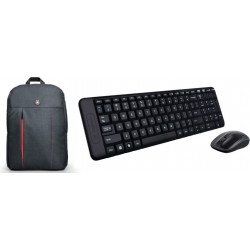 Logitech MK220 Wireless Mouse & Keyboard Combo + Portland BackPack