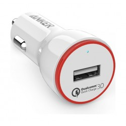 Anker PowerDrive+ 1 with Quick Charge 3.0 Car Charger - White
