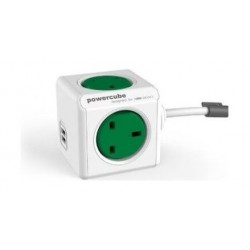 Allocacoc PowerCube Extended USB 1.5m - Green