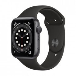 Apple Watch Series 6 GPS 44mm Aluminum Case Smart Watch - Grey / Black