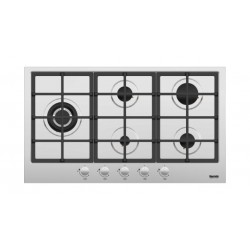 Baumatic 90X90CM 5 Burner Stainless Steel Gas Hob (BMEH9GSS)
