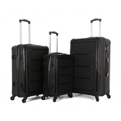 Giordano Luggage Trolley Bags, 3 Pcs, Black