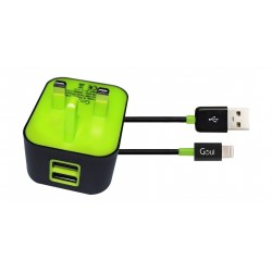 Goui Wall-I UK Wall Charger + Lightning Cable - Black