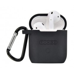 Tingz My Silicone Case For Airpods With Sport Strap - Black