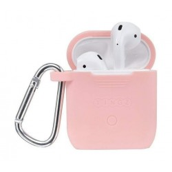 Tingz My Silicone Case For Airpods With Sport Strap - Pink
