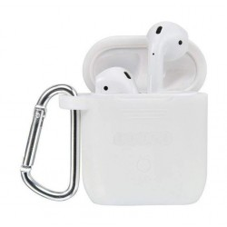 Tingz My Silicone Case For Airpods With Sport Strap - White