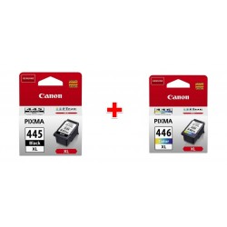 Canon CL-446XL Ink Cartridge For Inkjet Printing (8284B001AA) - Multi + Canon PG445XL Ink Cartridge For Inkjet Printing (8282B001AA) - Black