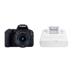 Canon EOS 200D 24.4MP Wi-Fi Digital Camera + EF-S 18-55 mm III Lens + Canon SELPHY CP1300 Compact Photo Printer - White