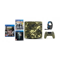 Sony PlayStation 4 Slim 1TB Console Call of Duty WWII Limited Edition + Sennheiser GSP 300 Wired Gaming Headset + Dishonored 2 + Tom Clancy's: The Division - PS4 Game